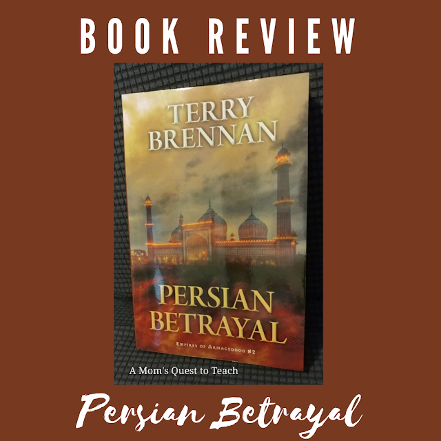 Text: Book Review Persian Betrayal; book cover of Persian Betrayal