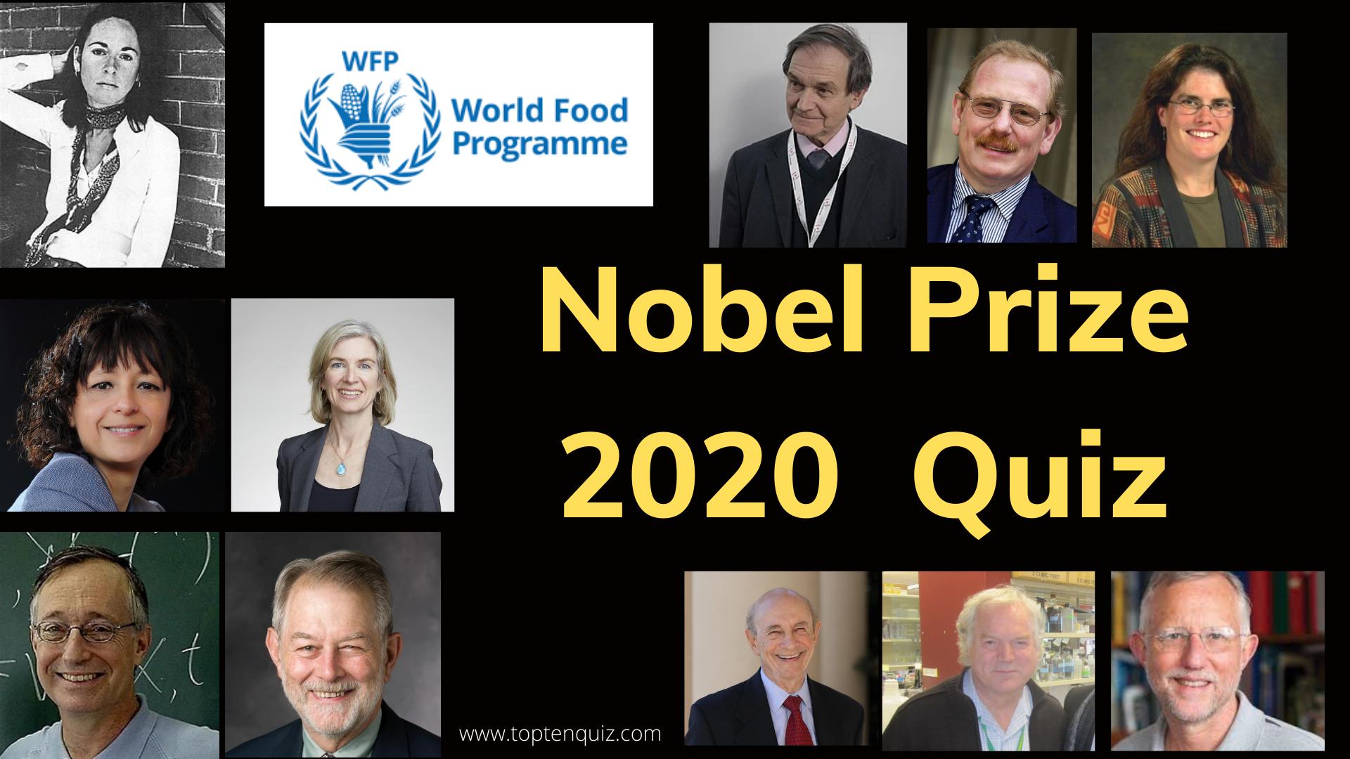 Nobel Prize 2020 Quiz - Nobel Prize Winners 2020