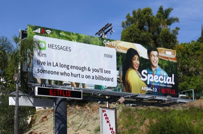 Special Netflix series text billboard
