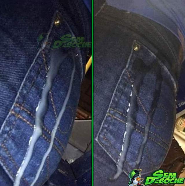 Cuspiram no bolso dela?
