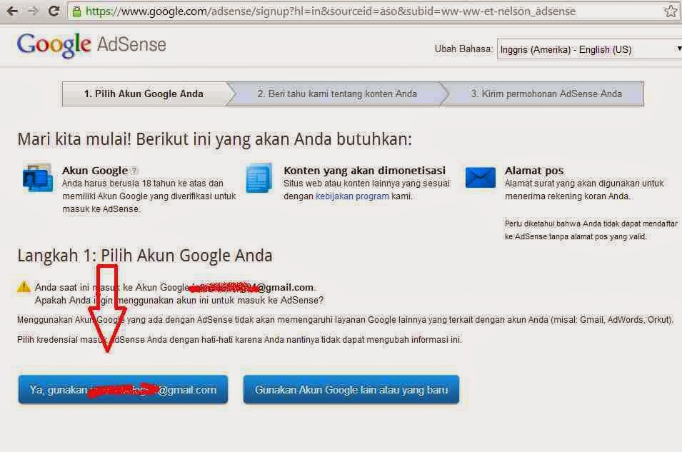 Cara Daftar Google Adsense Bagian Kedua