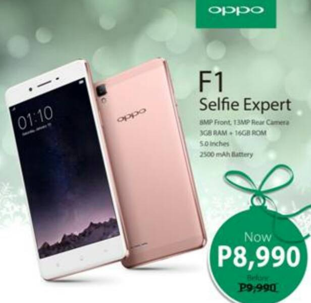 OPPO F1 Price Slashed by 3,000 Pesos