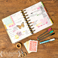 Kim Dellow Happy Planner week spread