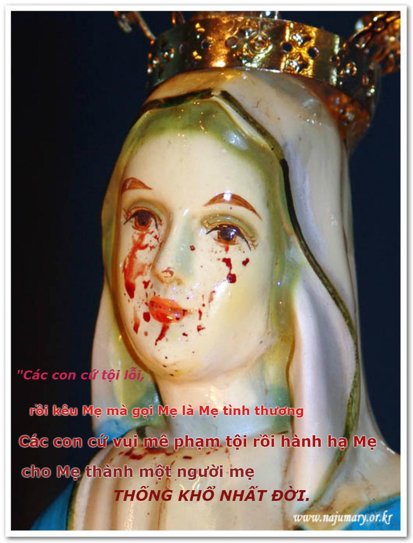 Đức Mẹ Maria khóc suối lệ