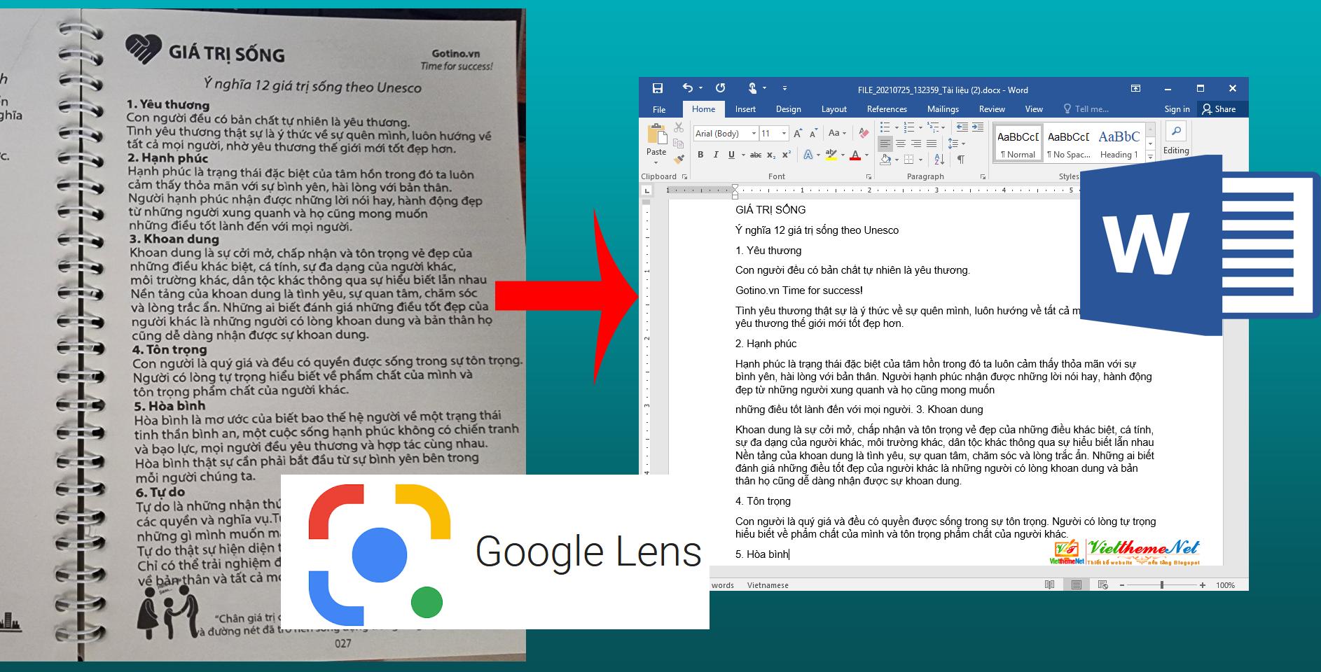 Cách chuyển văn bản giấy hay nội dung một quyển sách thành file Word chỉ trong tít tắt với Google Lens