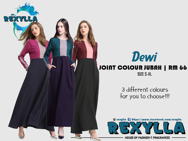 rexylla, joint colour, joint colour jubah, dewi collection