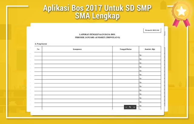 Aplikasi Bos 2017 Untuk SD SMP SMA Lengkap