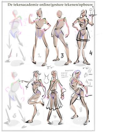 mensen tekenen, charachter tekenen, charachter design, gesture tekenen, tekenles, toelting,leren schetsen,uit het hoofd tekenen,model tekenen
