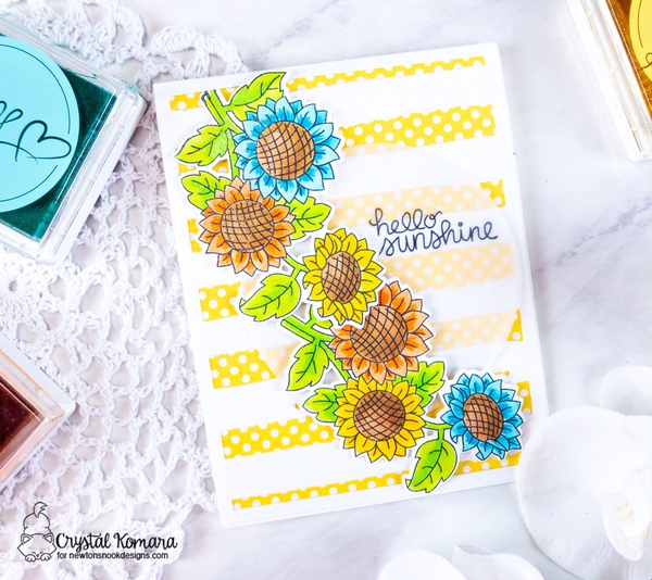 Hello sunshine by Crystal features Sunflower Days by Newton's Nook Designs; #newtonsnook