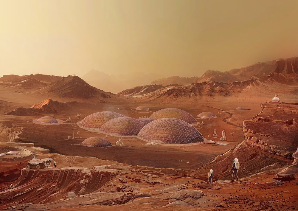 Mars Colony by Luis Peres - book cover art for Generation Mars - Scratching the Surface
