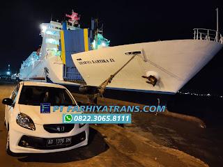 Kirim mobil Honda Brio dari Solo, pengiriman ke Bitung dengan kapal roro melalui Pelabuhan Tanjung Perak Surabaya dan Pelabuhan Makassar