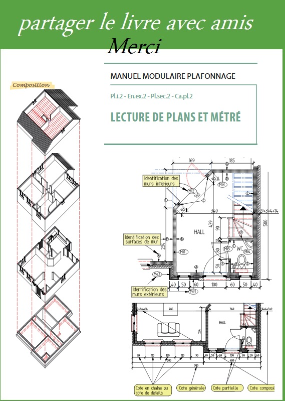 lecture de plans et metre pdf book batiment architecture. Black Bedroom Furniture Sets. Home Design Ideas