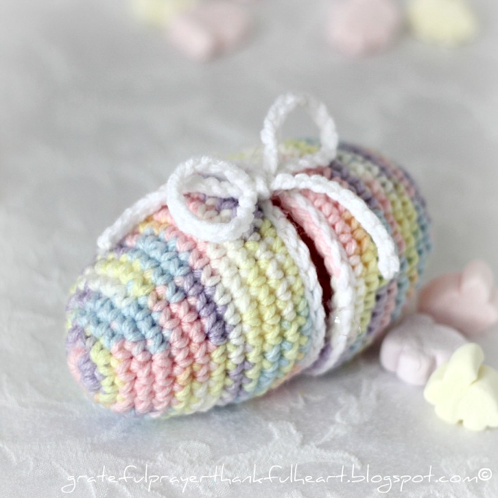Crochet Easter Egg Grateful Prayer Thankful Heart