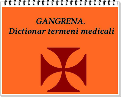 Wiki GANGRENA Dictionar  medical simptome si tratament