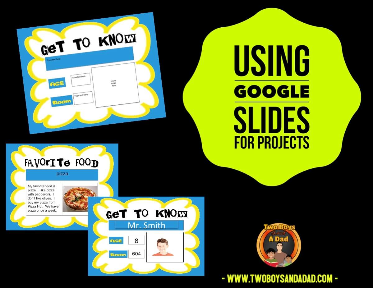 Using Google Slides for projects