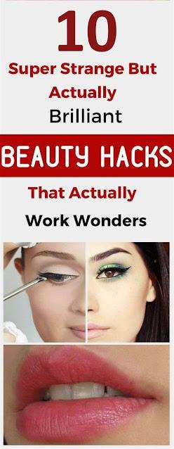 10 Super Strange Beauty Hacks That Actually Work