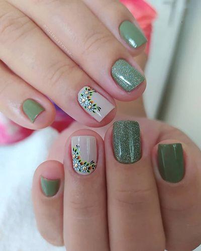 unhas decoradas verdes 6