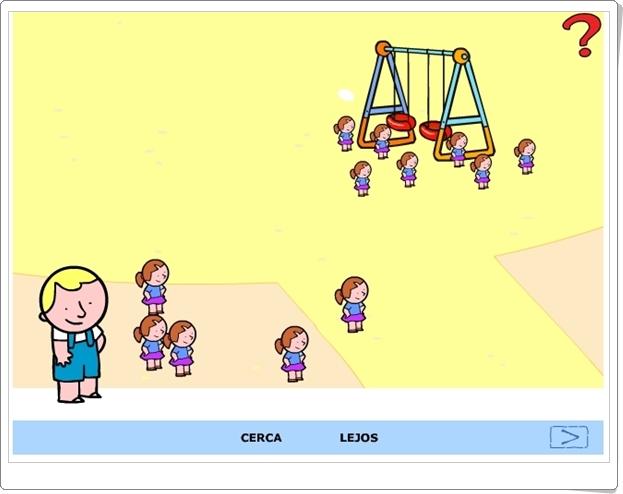 """""""Cerca y lejos"""" (Actividad interactiva de conceptos básicos)"""
