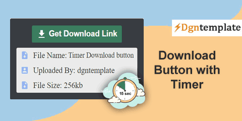 How to Install Download Button With Timer Countdown