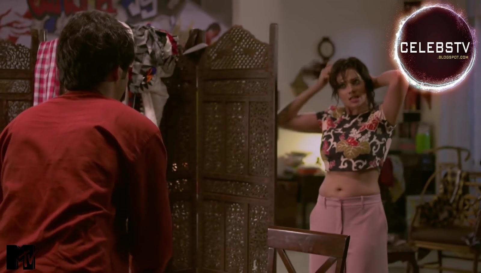 Megha Gupta Aka Raima Mam Very Hot Navel, Boobs Show And -9314