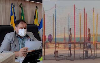 Emanoel Vieira propõe a retirada de brinquedos infantis da Beira Mar e matéria vira polêmica nas redes sociais