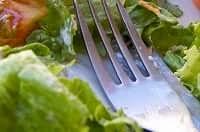 Insalata con forchetta