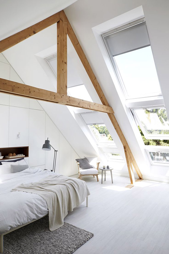Attic bedroom via Vtwonen