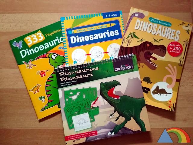 Libros de actividades sobre dinosaurios