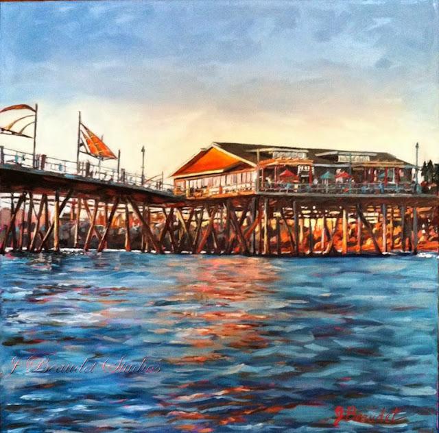 kincaids Redondo Beach painting from J Beaudet of Jen Beaudet art