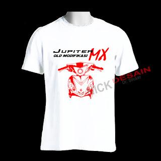 Kaos OJMX Putih Motif Merah