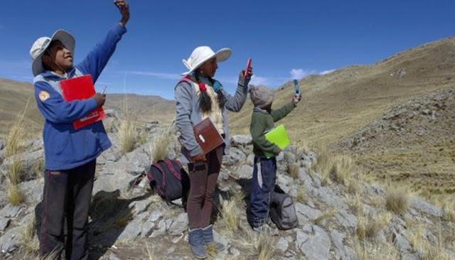 Clases virtuales en los Andes de Perú, ante la pandemia