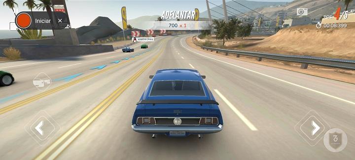 Captura Rebel Racing en el Redmi Note 9s