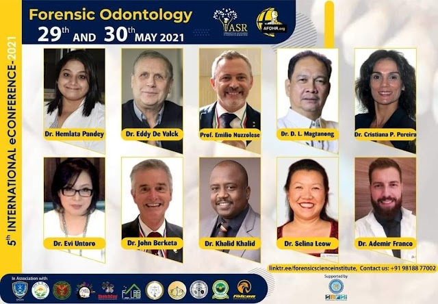 UPCD Dean Magtanong at the 5th International eConference in Forensic Odontology of the International Association of Scientists & Researchers