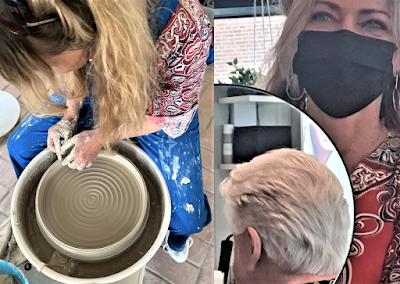 Konsthantverk i Lomma: Pernilla svarvar till både hår och lera
