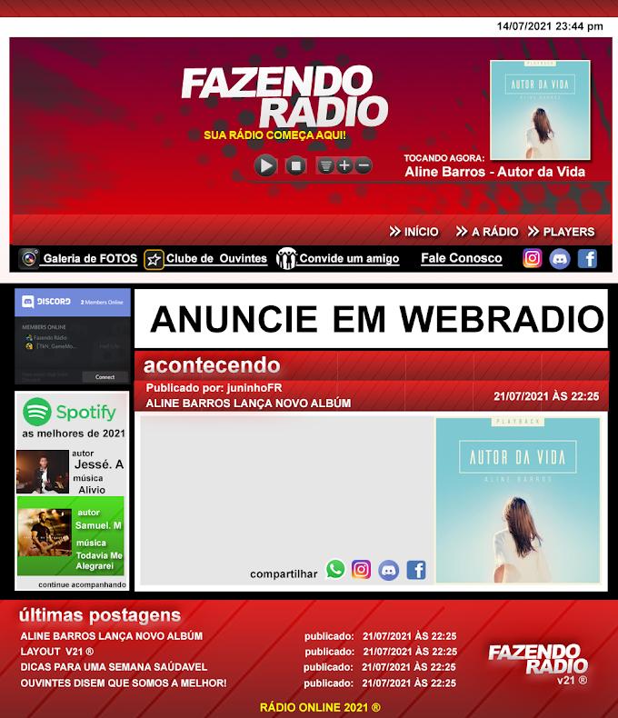 Layout para Rádio grátis - FRv21
