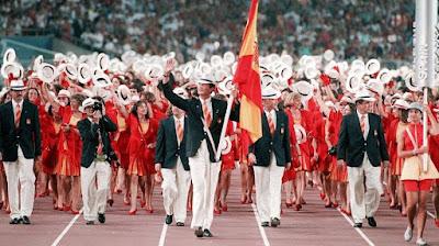 Ceremonia de apertura de los Juegos Olímpicos de Barcelona 1992