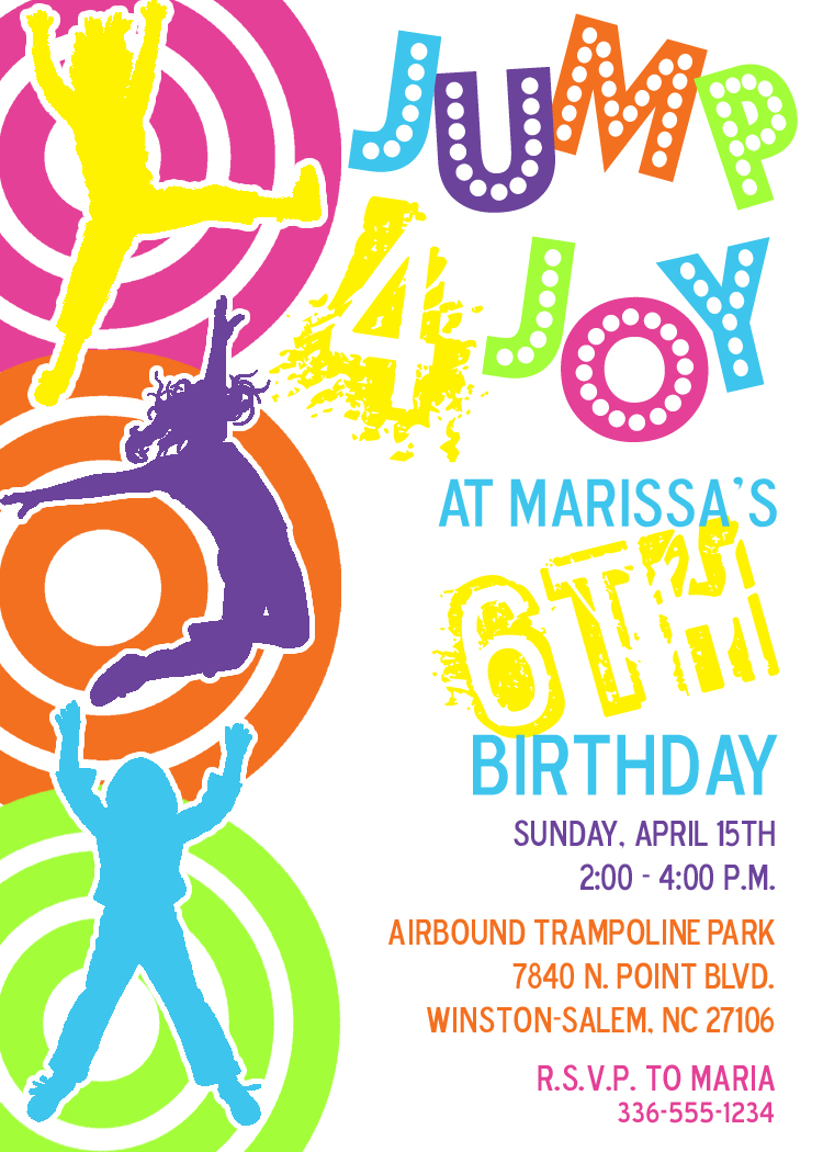 Custom Birthday Package For Airbound Trampoline Park Party