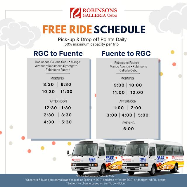 Free Ride Robinsons Galleria Cebu to Robinsons Fuente