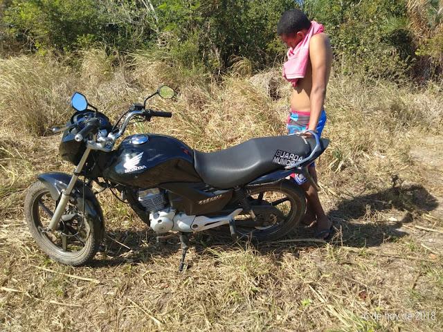 Polícia municipal de Rosário do Catete recupera moto e prende assaltante