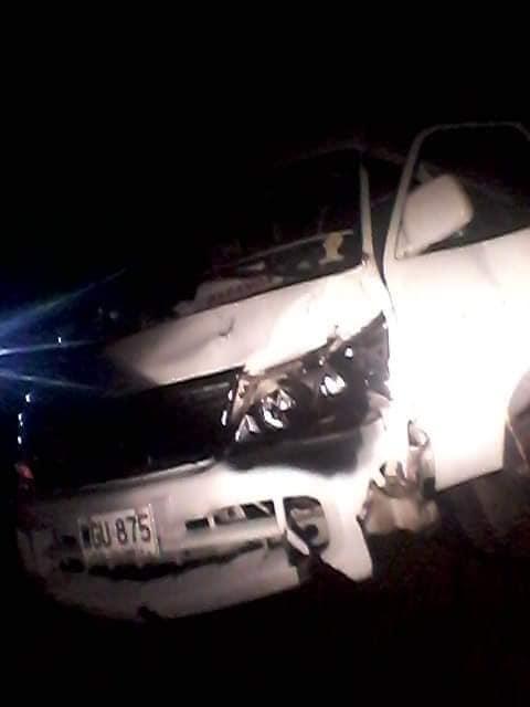 Buseta que cubría ruta Baranoa Juan de Acosta, chocó contra semoviente