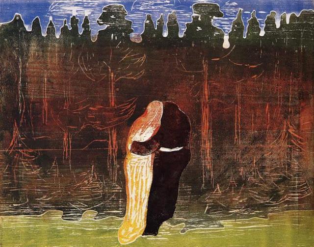 Эдвард Мунк - В сторону леса. 1915