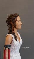 sposini personalizzati volti somiglianti ritratti da foto idea regalo sposa orme magiche