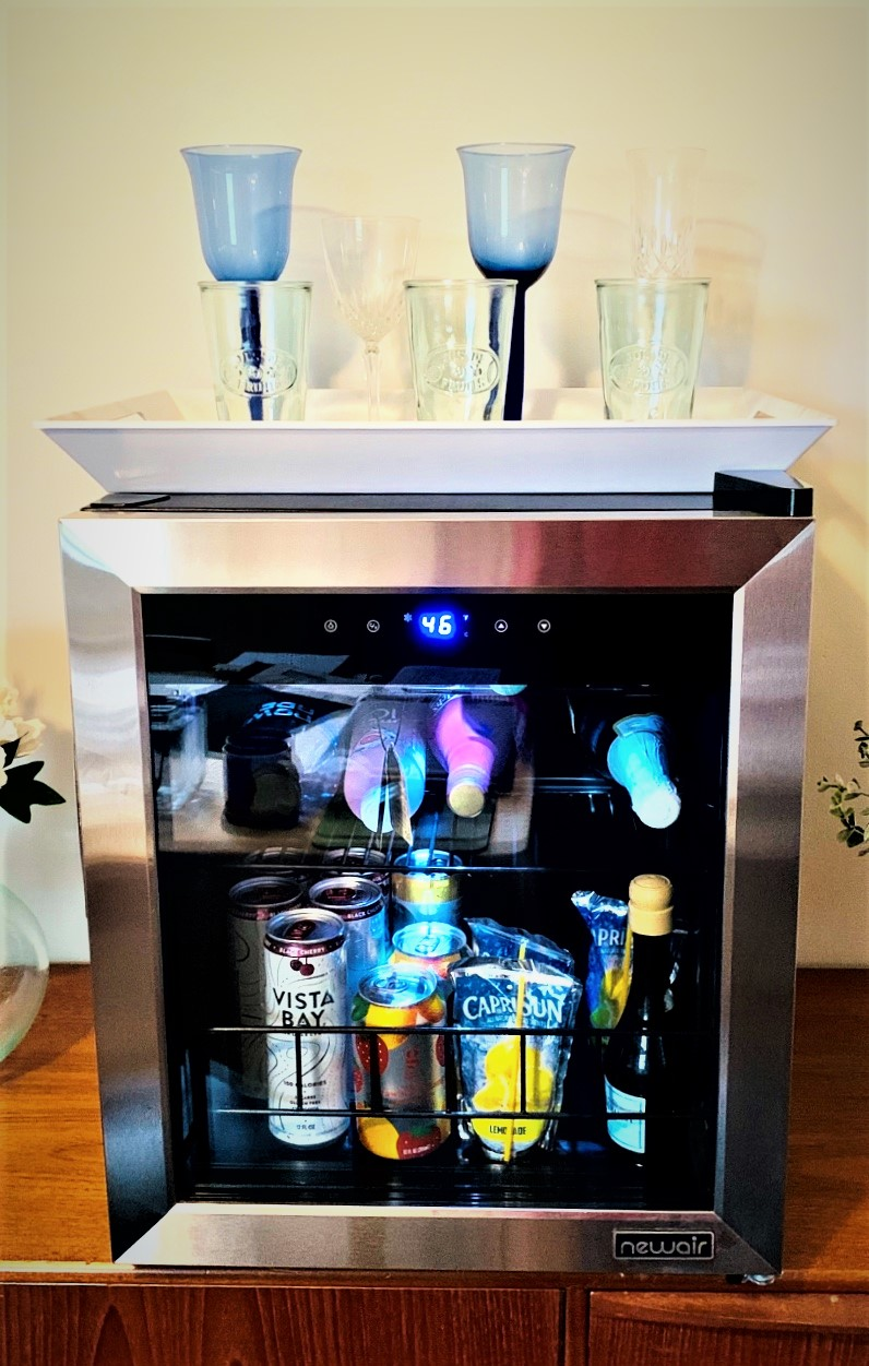Save space with freestanding wine fridge