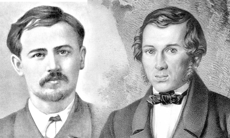 Микола Леонтович та Євген Гребінка