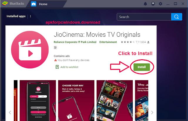 jiocinema for windows pc