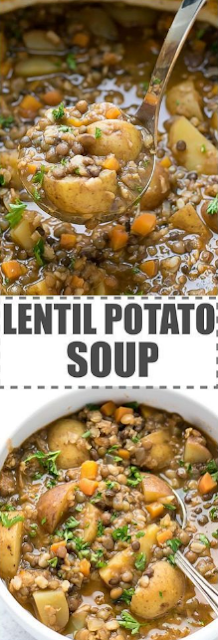 Easy Lentil Potato Soup Recipe