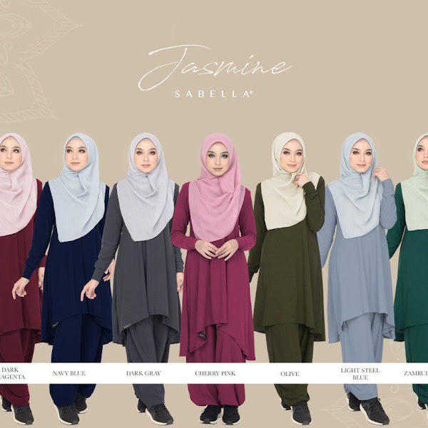 Jasmine Suit Pakaian Ihram Wanita by Sabella