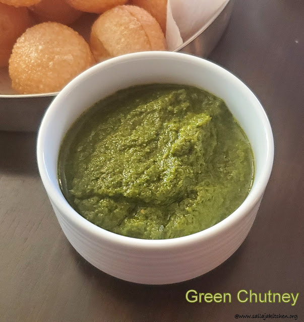 images of Green Chutney / Mint Coriander Chutney For Chaat