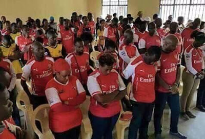 Nigerian fans fasting for Arsenal victory against barcelona