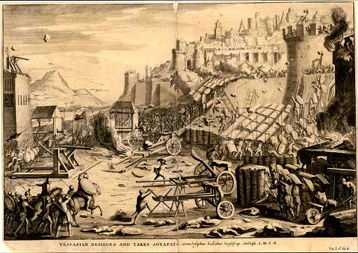 Illustration of the Yodfat siege